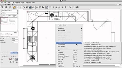 planit software kitchen design 2020 fusion tips select items