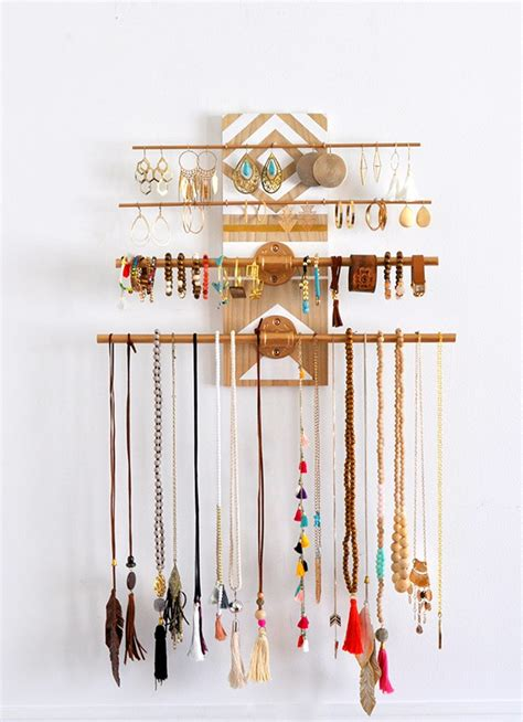 Diy Geometric Industrial Wall Jewelry Organizer Made In