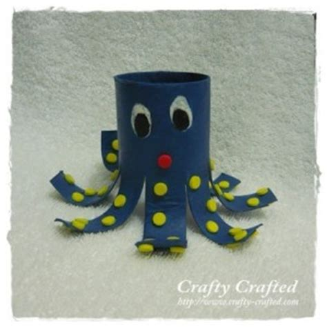 octopus toilet paper roll craft crafty crafted 187 archive crafts for children