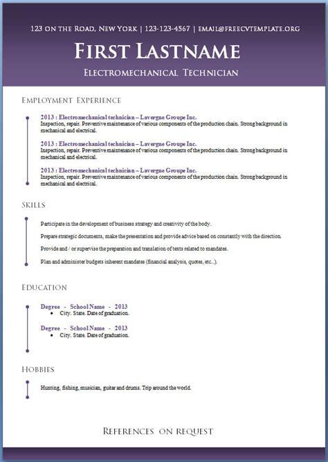free cv templates 50 to 56 free cv template dot org