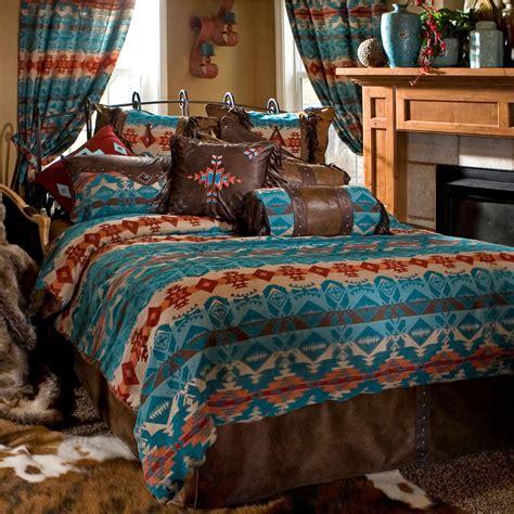 cowboy bedding turqusoise rustic western cowboy comforter bedding set