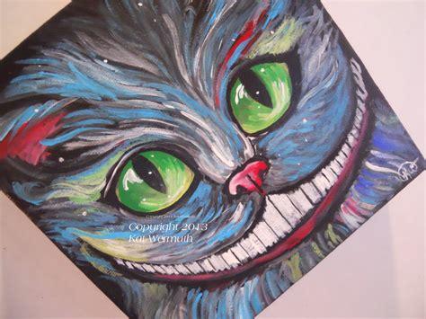 cheshire cats painting cheshire cat fan original acrylic on by pushingupdaizies