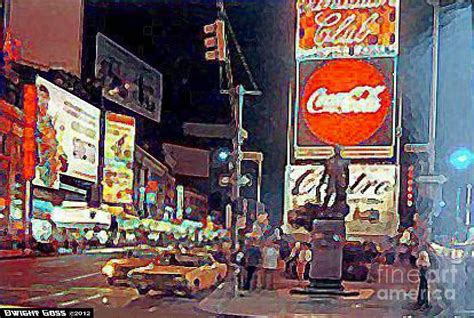 paint nite nyc events times square by in new york city 1960 painting by