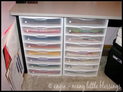 paper craft storage utilizing a small space as a craft room blissfully domestic
