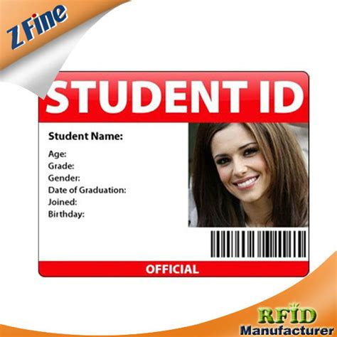 school id card machine pvc student id card maker with em or tk chips for checking