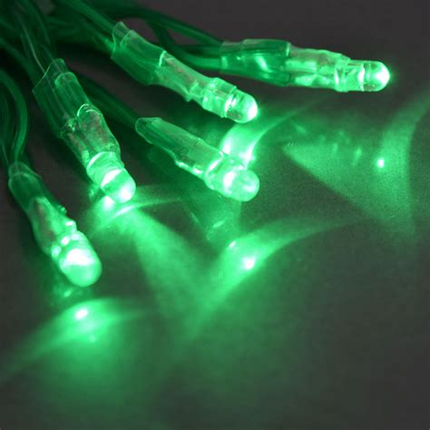 green and led lights tiny led battery operated stringlight strand 10 green bulbs