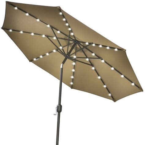 patio umbrella with solar led lights strong camel 9 new solar 40 led lights patio umbrella
