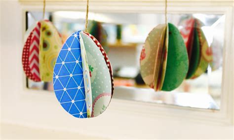 3d crafts for easy easter craft how to make 3d paper eggs