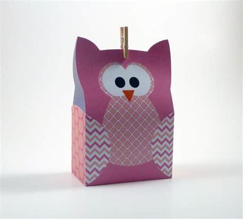 paper bag owl craft diy owl gift bag by littlestuffme paper crafts pattern
