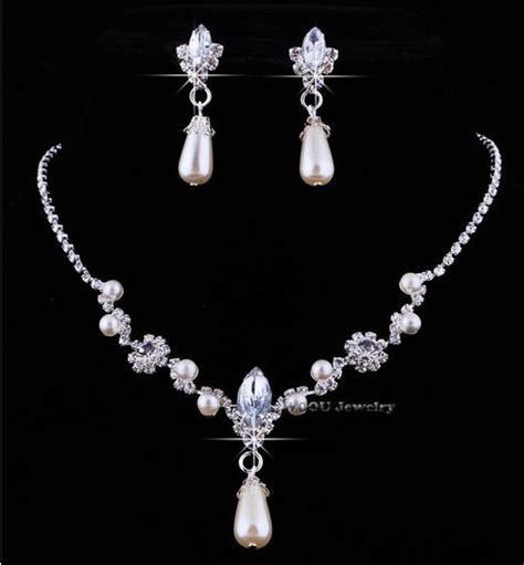 jewelry sets 2015 fashion sale alloy rhinestone necklace earring