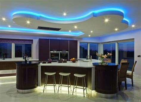 kitchen mood lighting and wacky kitchens cubist plywood mood lit kitchens