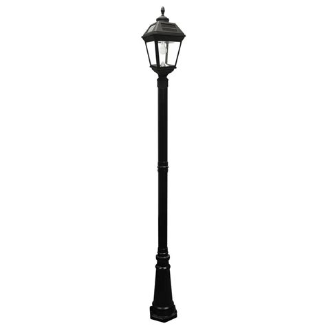 post solar lights outdoor gama sonic imperial bulb series single black integrated