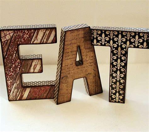 decoupage letters eat letters 8 inch decoupage kitchen decor decoupage