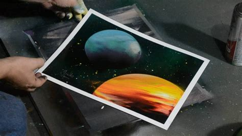 spray painting how to how to paint planets with spray paint and easy