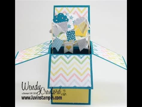 how to make a card in a box pop up box card tutorial