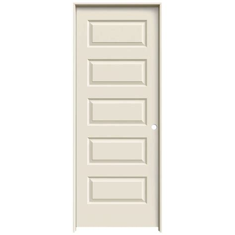 interior panel doors home depot jeld wen 24 in x 80 in molded smooth 5 panel primed white hollow composite single prehung