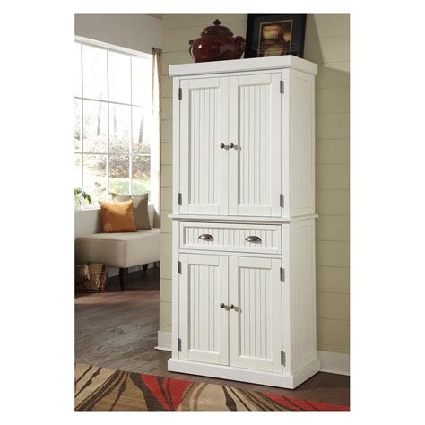 white pantry cabinets for kitchen home styles nantucket pantry distressed white pantry