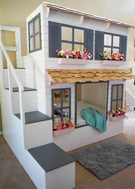 doll house loft bunk bed the ultimate custom dollhouse loft or bunk bed trundle