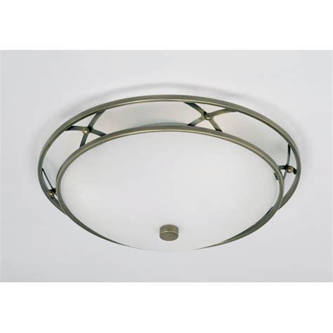 flush lights ceiling endon 91129 3 light flush ceiling light antique brass