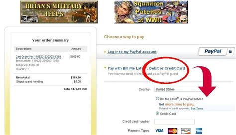 make payment to store card brian s wwii surplus store help page payment by credit card