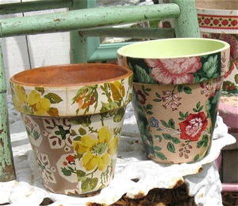 materials needed for decoupage wallpaper decoupage flower pots favecrafts