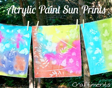 acrylic painting material craftiments acrylic paint sun prints on fabric