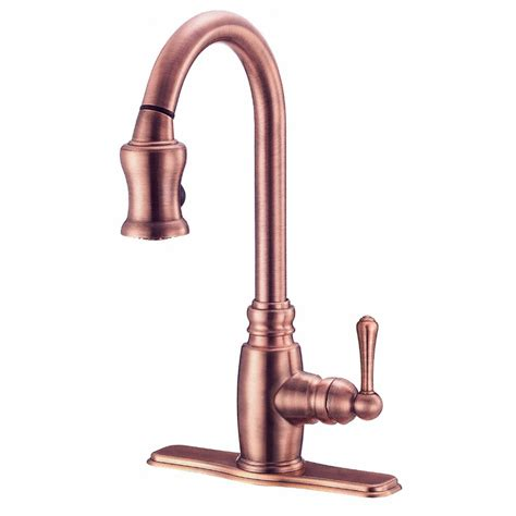 antique kitchen faucet shop danze opulence antique copper pull kitchen
