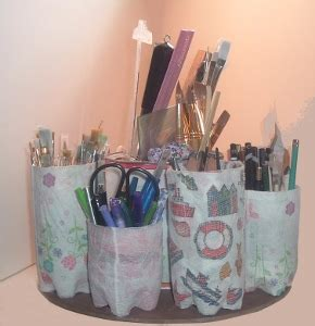 Water Bottle Supply Organizer Recycled Craft   FaveCrafts.com