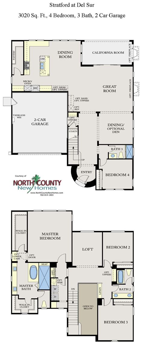 new floor plans stratford at sur floor plans new homes in san diego county new homes