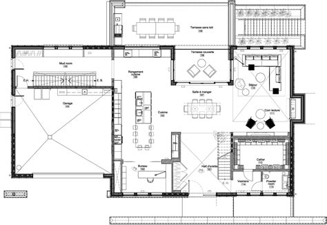 modern contemporary floor plans home iron lace designed by gestion ren 195 169 desjardins keribrownhomes