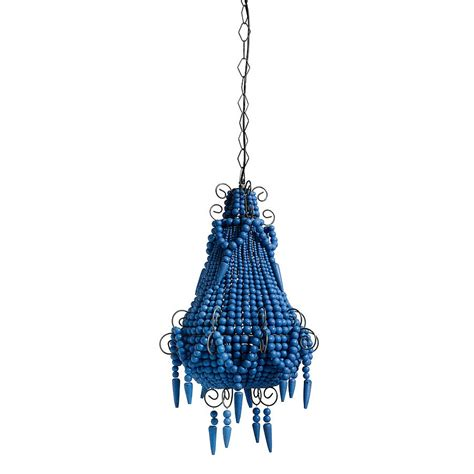blue beaded chandelier blue beaded chandelier by out there interiors
