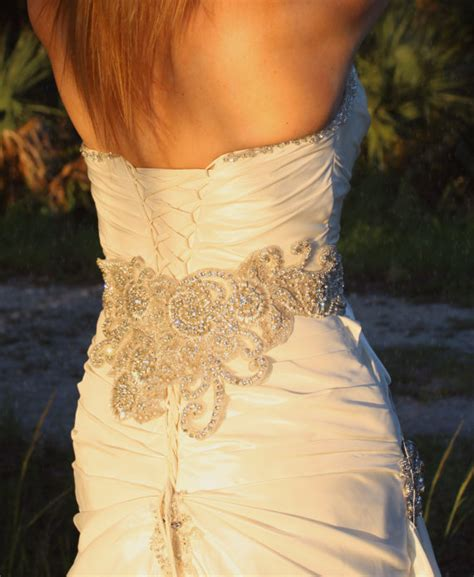 beaded belts for dresses items similar to couture embellished wide bridal beaded