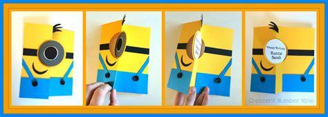 how to make a minion card minion birthday cards gangcraft net