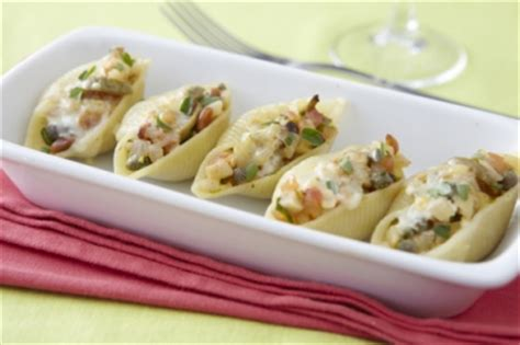 pate coquilles conchiglioni farcies aux 3 fromages