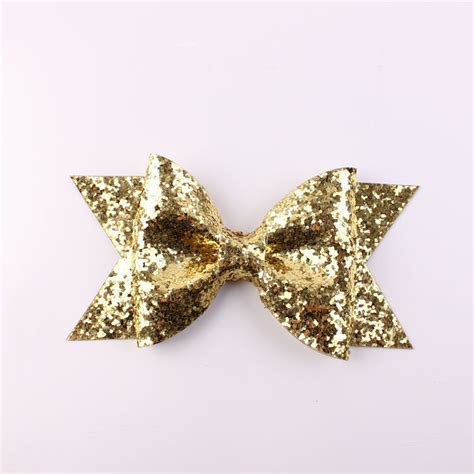 large bows for large gold glitter bow fabric bow hair clip for