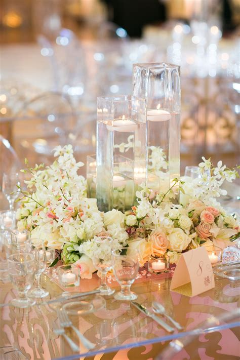 centerpieces with flowers flower wreath floating candle centerpieces
