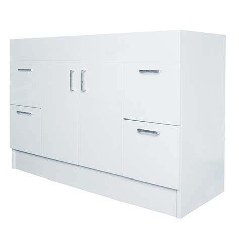 flat pack bathroom vanity estilo 1200mm allana gloss white freestanding vanity