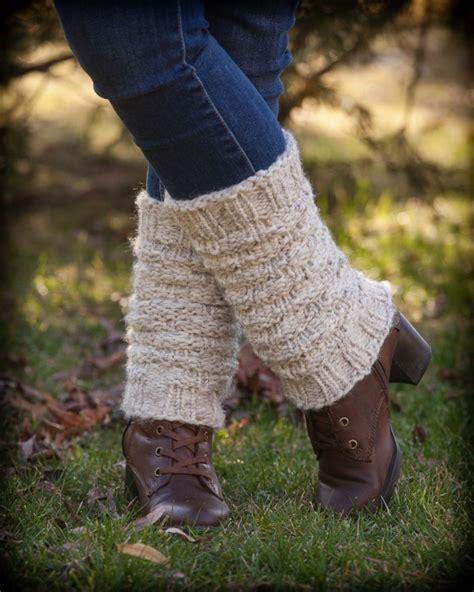 loom knit leg warmers loom knit forest walk legwarmers boot toppers