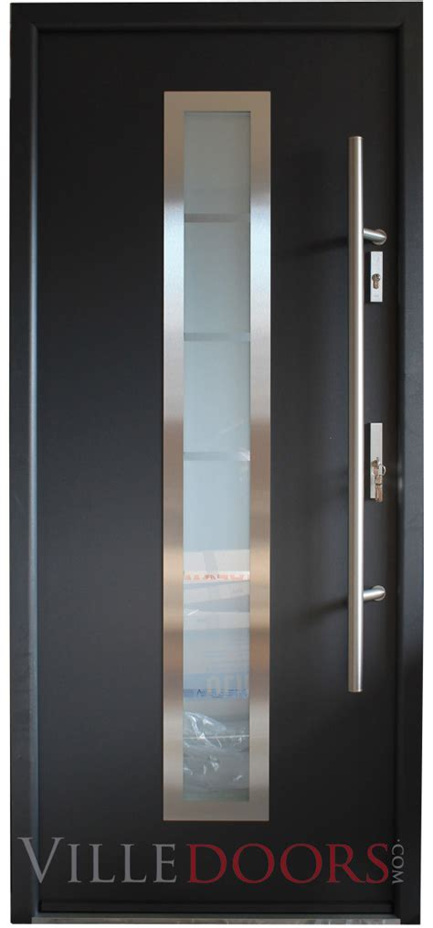 steel doors with glass quot madrid quot stainless steel entry door with glass
