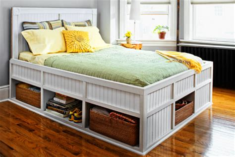 how to make a bed frame with storage how to build a storage bed this house