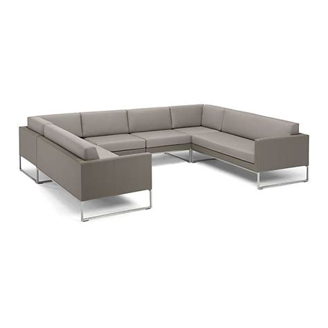 sunbrella sectional sofa dune 6 sectional sofa with cushions taupe crate