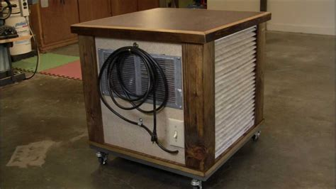 woodworking air filter diy simple woodshop air filtration system