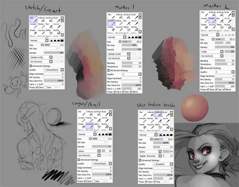 paint tool sai custom brushes paint tool sai brushes
