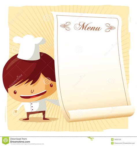 chef menu stock photo image 19253720