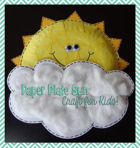 paper plate sun craft paper plate sun craft