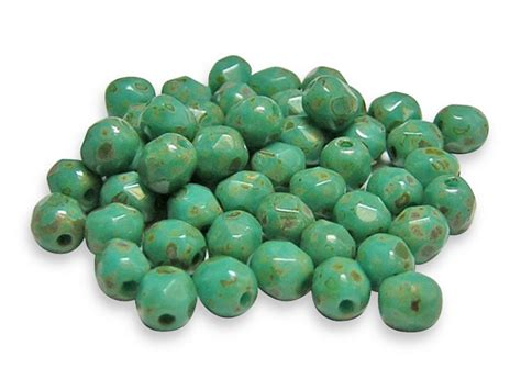 4mm turquoise 4mm turquoise picasso firepolished