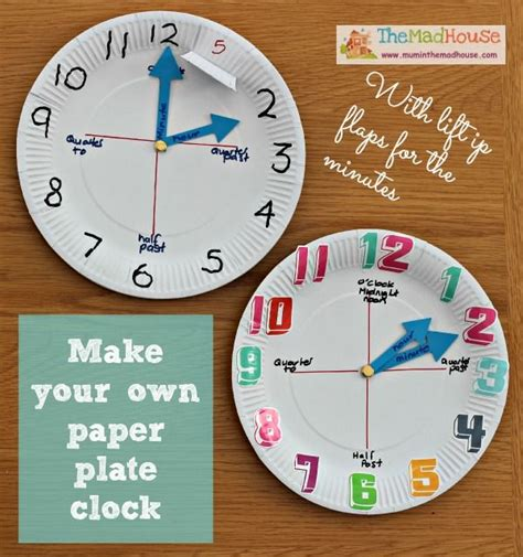 paper plate clock craft how to make a paper plate clock my boys to tell and crafts