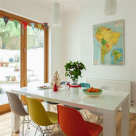 Coloured Eames Chairs by Dining Room With Multi Coloured Chairs Decorating