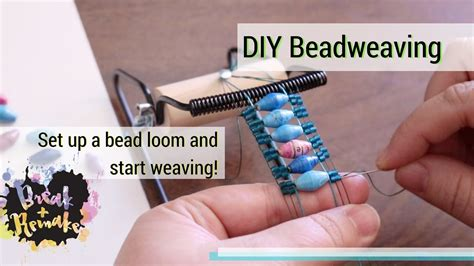 how to bead weave without a loom diy bead weaving how to set up a bead loom and start