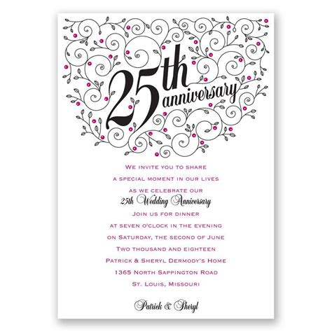 personalized anniversary invitations personalized 25th